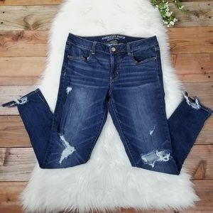 American Eagle Jegging Jeans Dark Wash Stretch 12